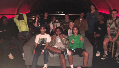 """The Peak"" Staff Member Joshua Schultz, with BROCKHAMPTON, on September 25th, 2017"