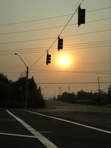 September 7th: The Beaverton sky filling with smoke was both awe-inspiring and frightening to everyone who was a witness to it. Photo courtesy of Sasha Winner, taken at 5:47 p.m.