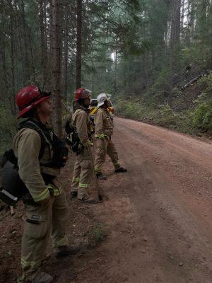Kassabs crew assesses fire damage.