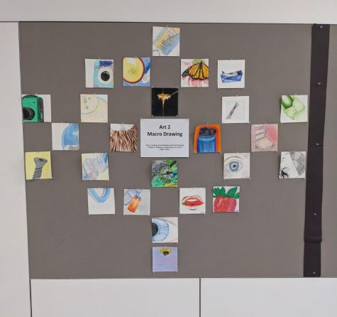 Art display from the art wing at Mountainside High School